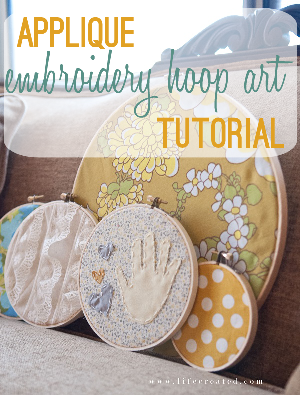 applique embroidery hoop art tutorial