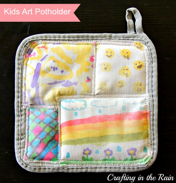 kids art potholder