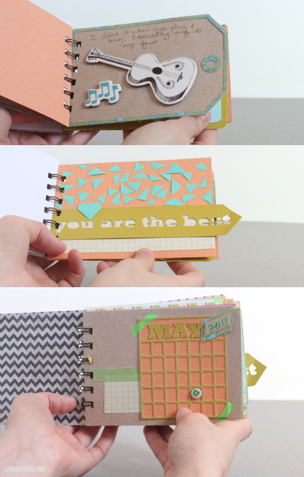 make a mini memory album