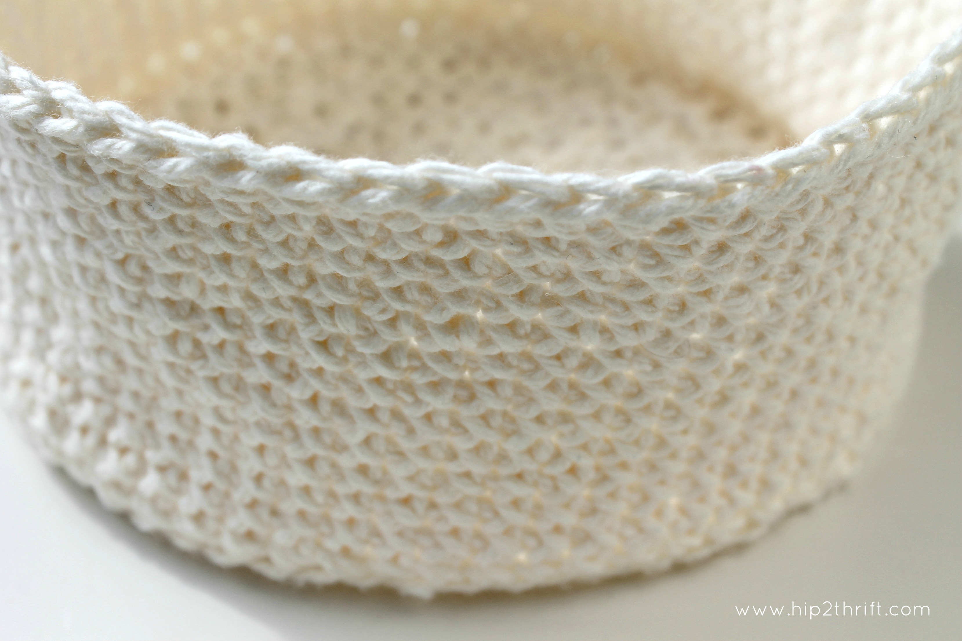 Crochet Basket : crocheted basket tutorial