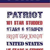 4th Of July Fonts