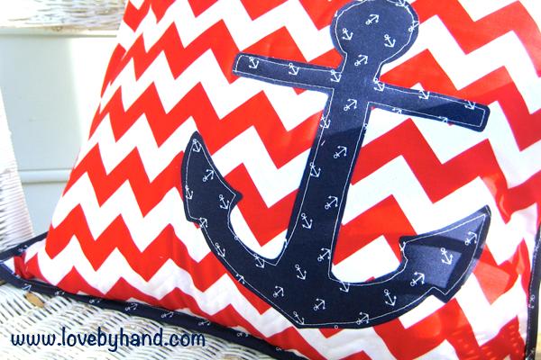 Nautical DIY Anchor pillow