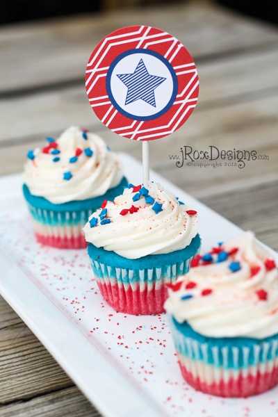 4th of July Cupcakes. Yummy AND pretty!