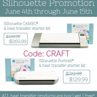 Silhouette Portrait Giveaway + Heat Transfer discounts