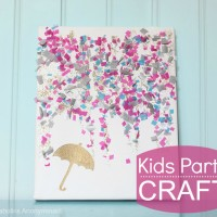 Kids Party Craft: Confetti Canvas