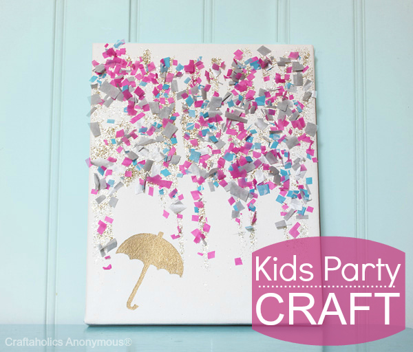 Party Confetti Drawing Kids Party Craft