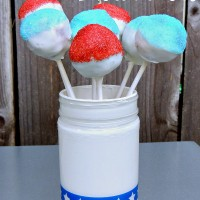Red, White, and Blue Brownie Pops