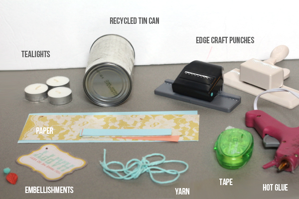 tealight diy supplies