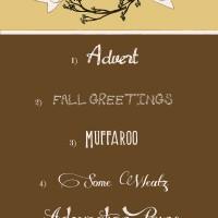 Favorite Fall Fonts