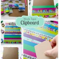Washi Tape Clipboard #ScotchBTS #ad