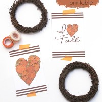 I Heart Fall Printable