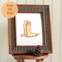 Wellies Fall Art Print {Free Printable!}