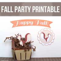 Free Fall Printable – Fall Party Decor!