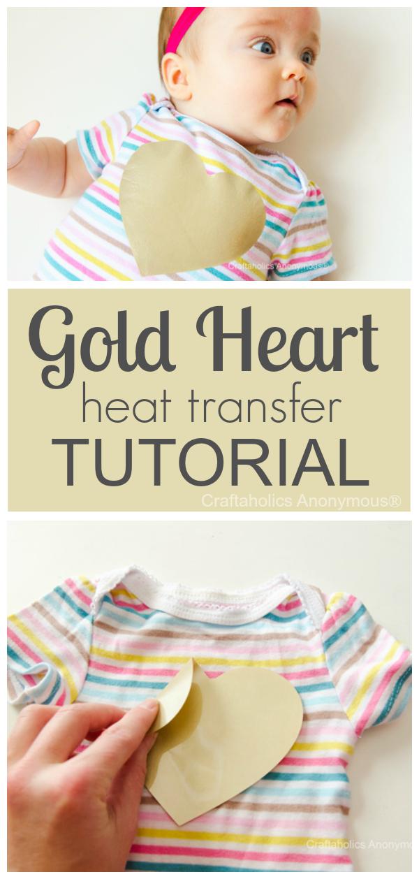 gold heart top
