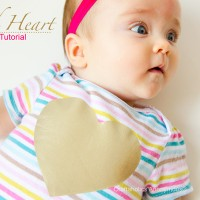 Gold Heart Onesie tutorial