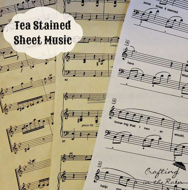 how-to-stain-sheet-music