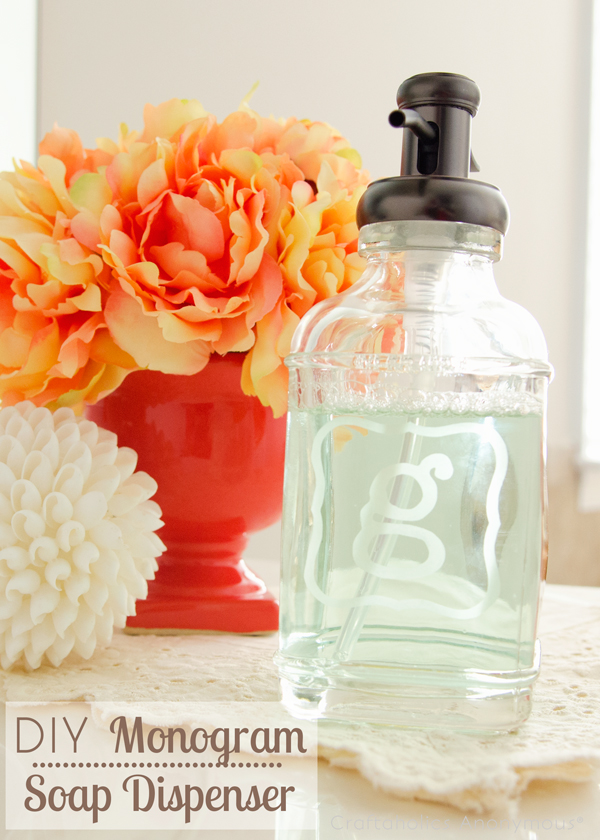 monogram soap dispenser