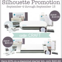 Silhouette Stamp Kit Discount + Portrait Giveaway!