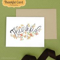 Thankful Card- Free Printable!