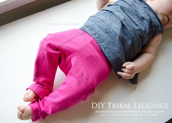 DIY tribal leggings
