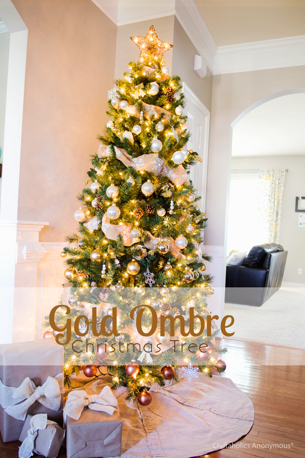 gold ombre christmas tree