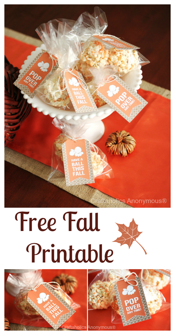 picture relating to Printable Pop by Tags named Craftaholics Anonymous® Slide printable: Popcorn Ball Tags