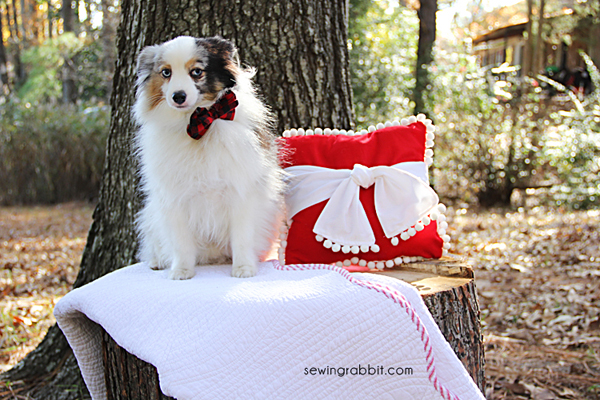 Christmas Pom pom Pillow