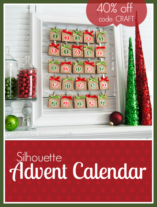 Silhouette advent calendar discount