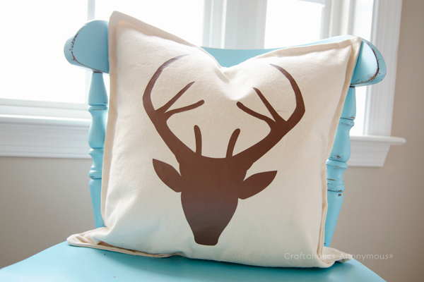 pillow deer head