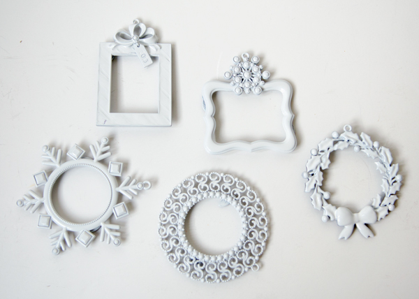 white frame ornaments