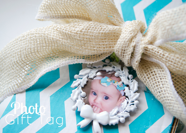 photo gift tag