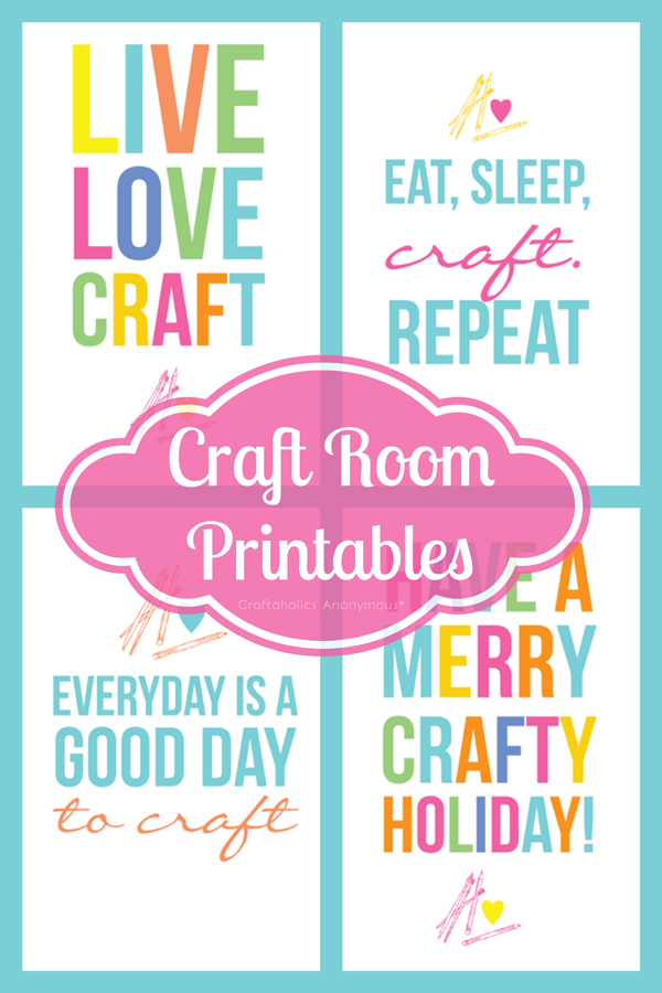 Craftaholics Anonymous Colorful Free Craft Room Printables