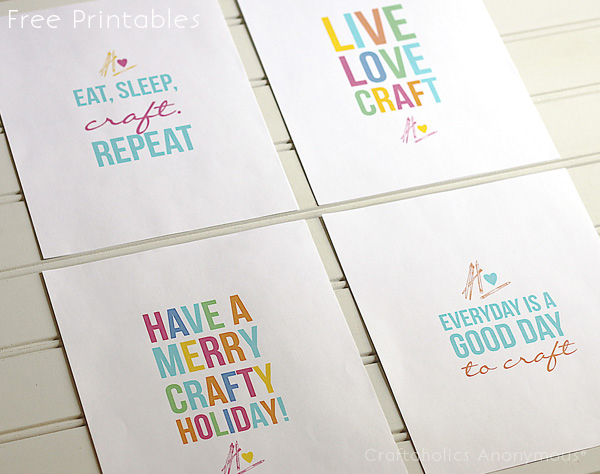 Cute Room Crafts: Colorful Free Craft Room Printables
