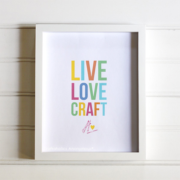 Craftaholics Anonymous: Colorful Free Craft Room Printables