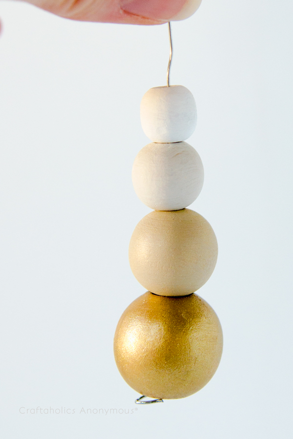 wood bead ornament