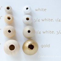 Handmade Gold Ombre Bead Ornament
