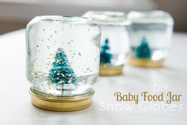 Baby Food Jar Snow Globes Craftaholics Anonymous...