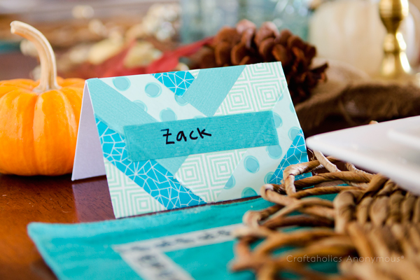 washi tape name cards
