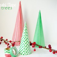 Washi Tape Christmas Trees