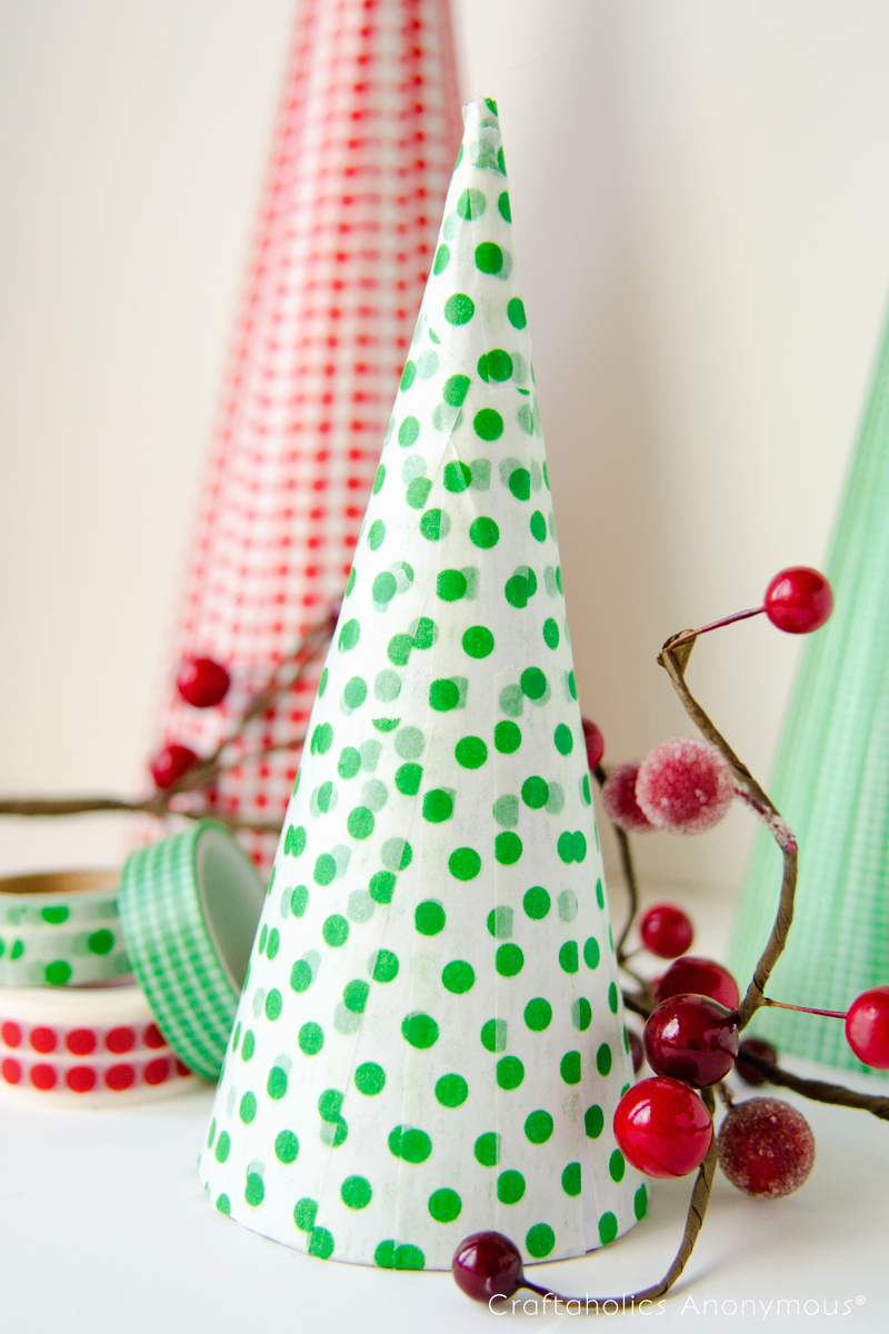 craftaholics anonymous washi tape christmas trees. Black Bedroom Furniture Sets. Home Design Ideas