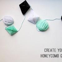 DIY Honeycomb Garland