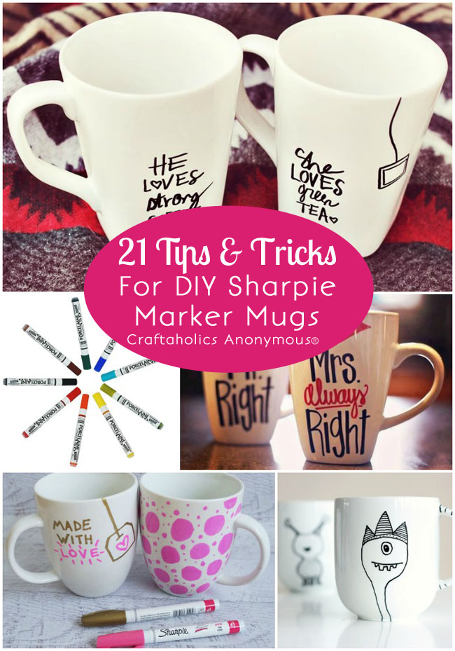 DIY Sharpie Marker Mugs at Craftaholics Anonymous