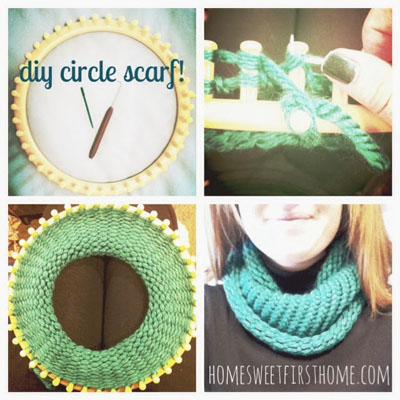 DIY Knitted Circle Scarf