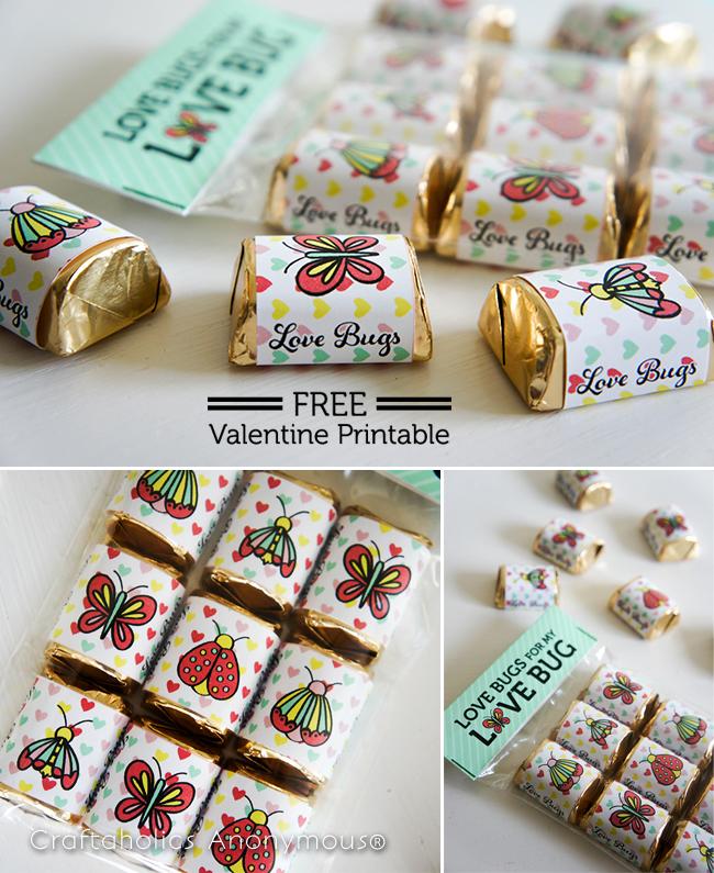 Love Bug FREE Valentine Printabe on www.craftaholicsanonymous.com #freeprintable #valentineprintable #valentine