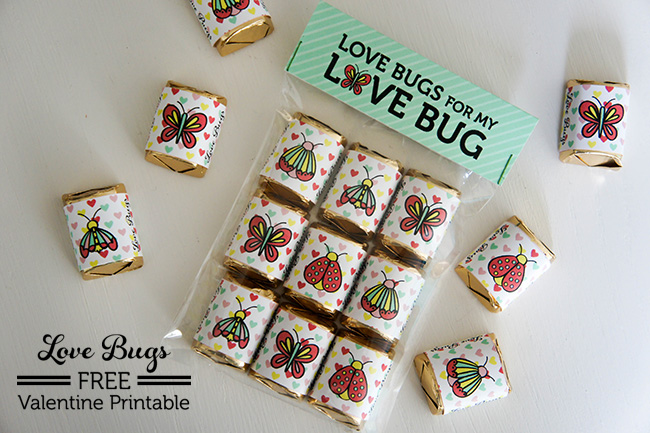 Love Bug FREE Valentine Printabe on www.craftaholicsanonymous.com #freeprintable #valentineprintable #valentine