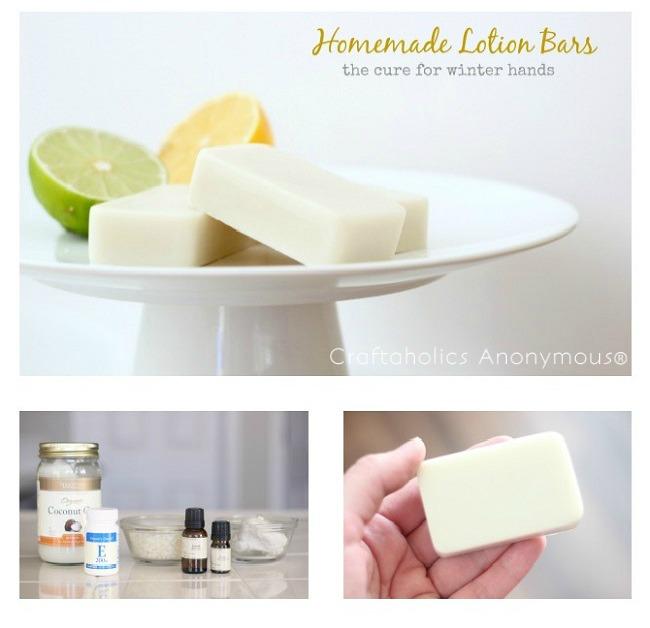 Homemade Lemon Lime Lotion Bars