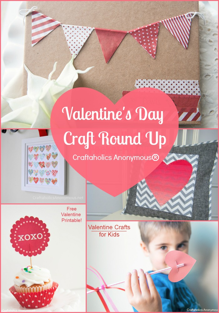Round Up of 20+ Valentine's Day Crafts at Craftaholics Anonymous