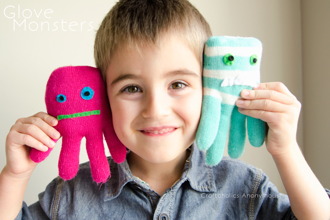 monster toys made from gloves