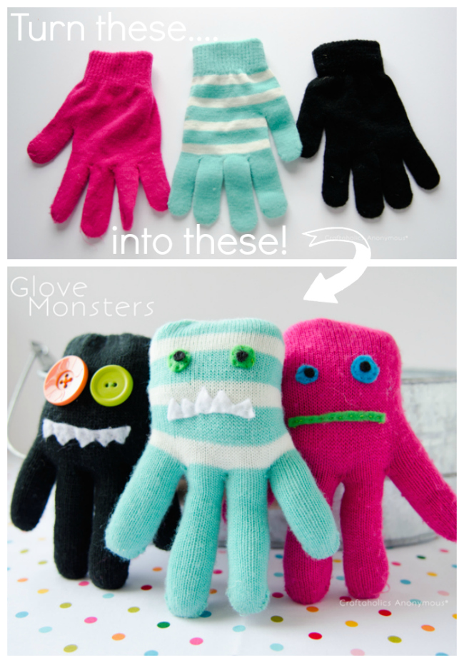 gloves to monsters
