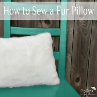 How to Sew a Faux Fur Pillow Tutorial